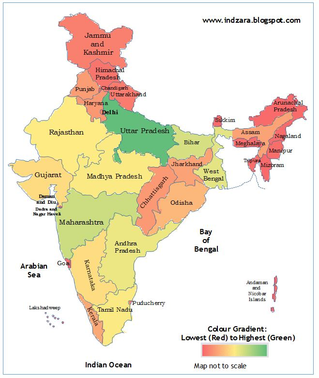Geographic heat map - India (Excel template) | INDZARA on printable map of india, globe with india, map south africa, map the us, map south korea, map saudi arabia, business with india, map spain, map russia, map sri lanka, map japan, map southeast asia, game with india, map nigeria, map of india map, map of india landforms, map east africa, map singapore, map west asia, plain map of india,