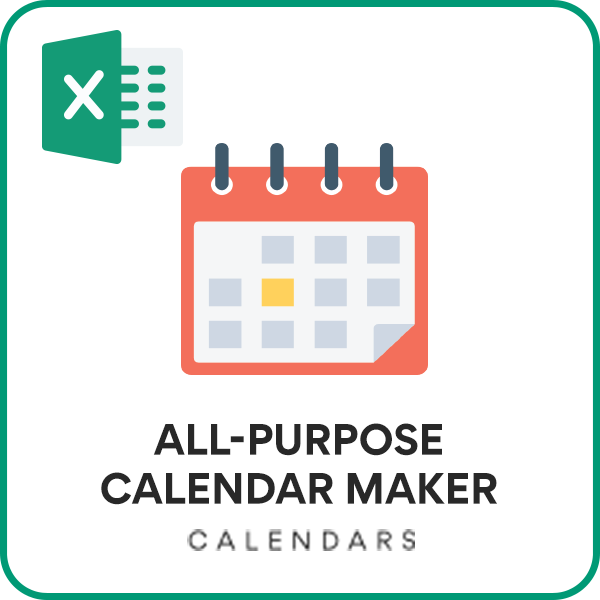All Purpose Calendar Excel Template