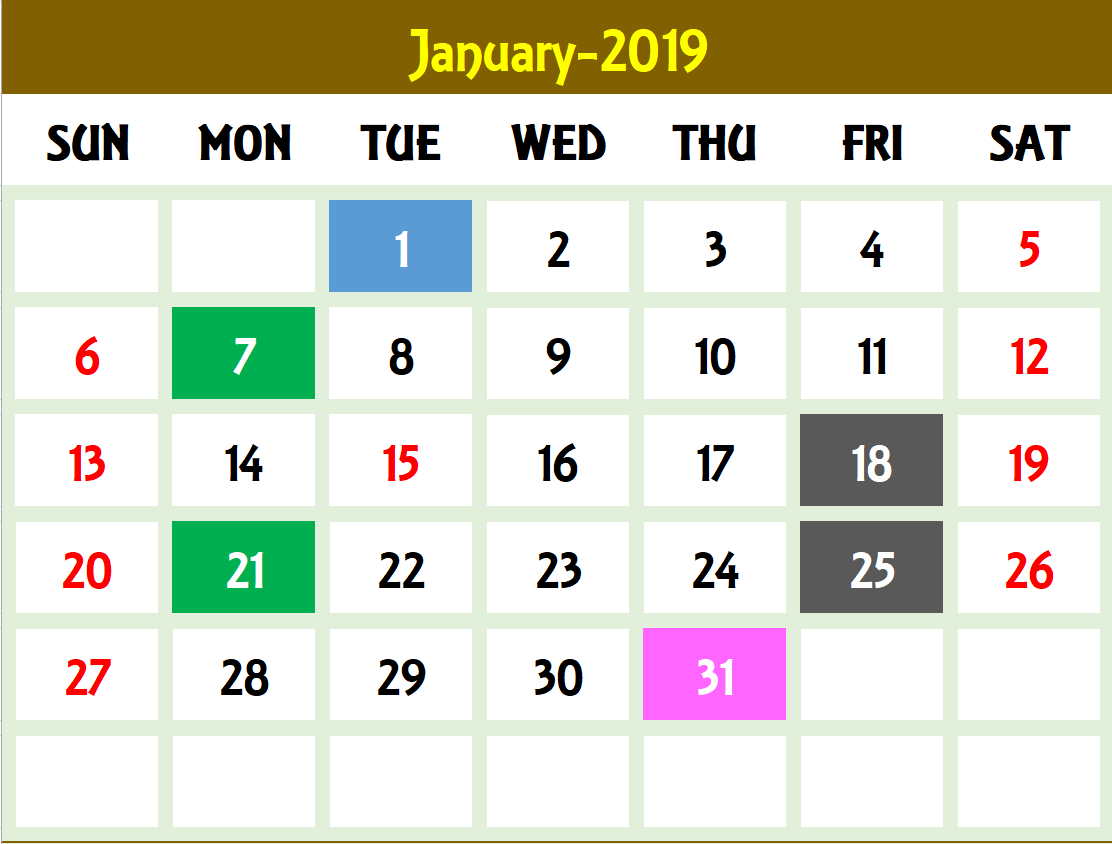 Excel Calendar Template Excel Calendar 2019 2020 Or Any Year