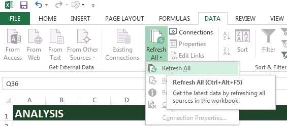 Retail Inventory and Sales Manager - Excel Template - Data Refresh