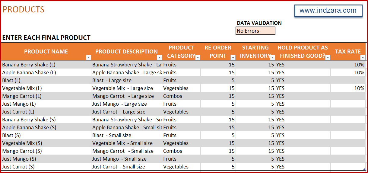 inventory tracking excel template