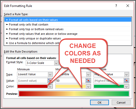 U S State Heat Map Conditional Formatting Change Colors