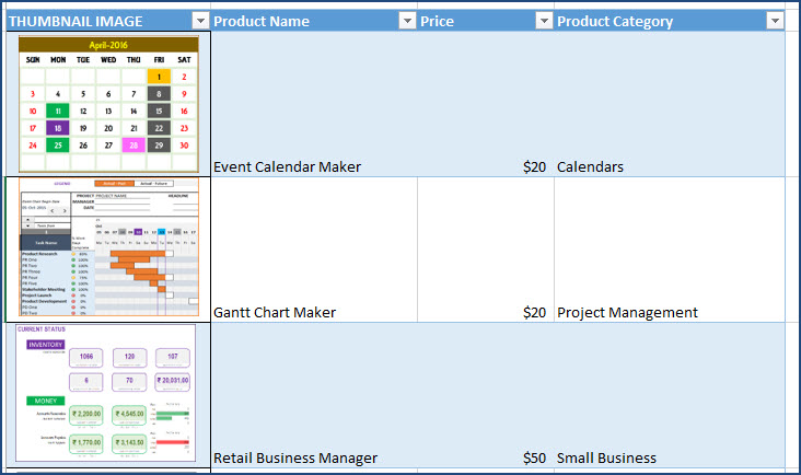 Enter Product Data for your Small Business