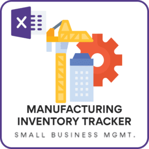 Manufacturing Inventory Tracker - Free Inventory Excel Template