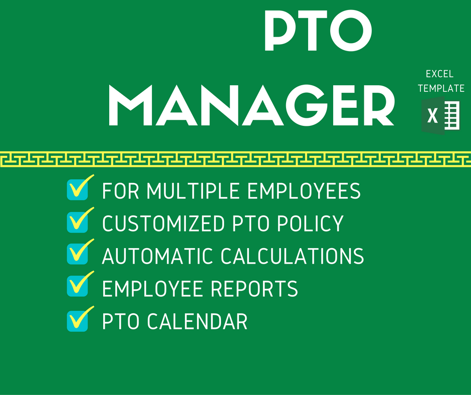 PTO Manager Excel Template - Product Features