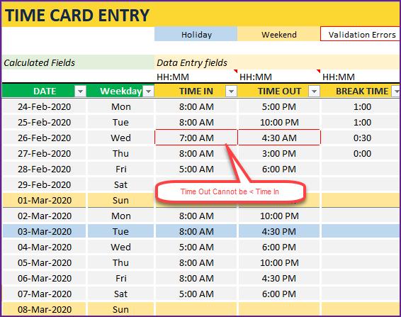Excel Timesheet Template Free Work Hours Calculator Spreadsheet