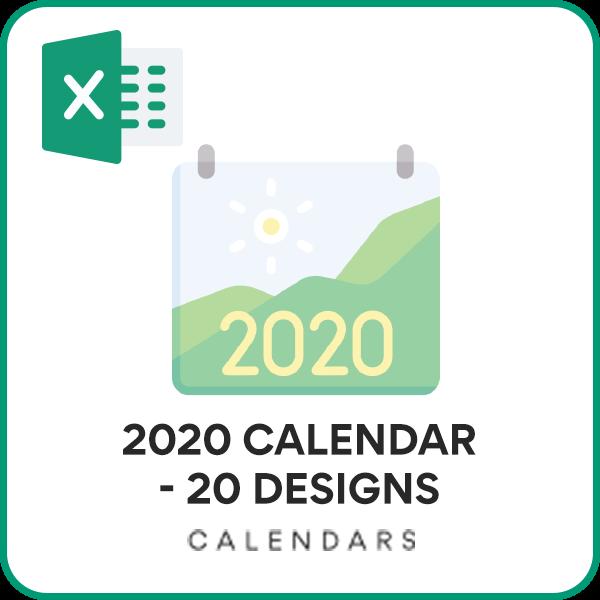 2020 Calendar Excel Template