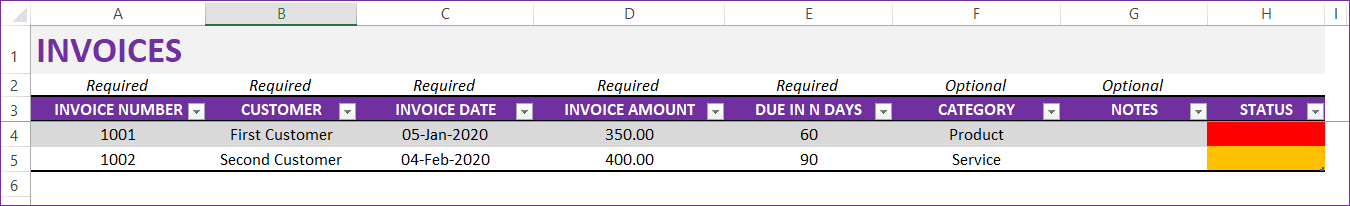 Second Invoice Data Entry