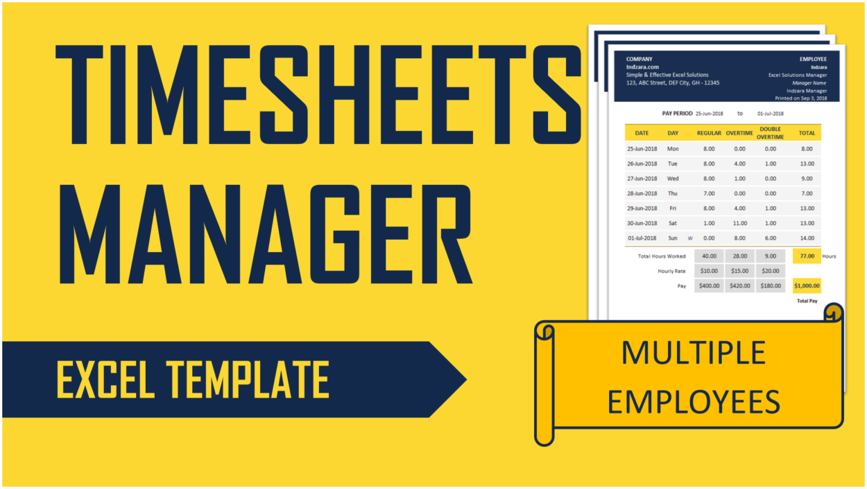 Timesheets Manager Excel Template